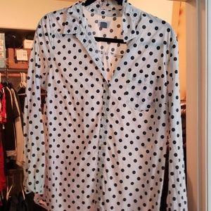 Old Navy Medium TALL polka dot blouse